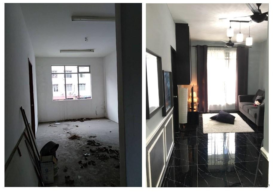 Bijak Hias Rumah Apartment Pemilik Ini Berjaya Tukar Nampak Macam Kondo Bajet Pun Murah Keluarga