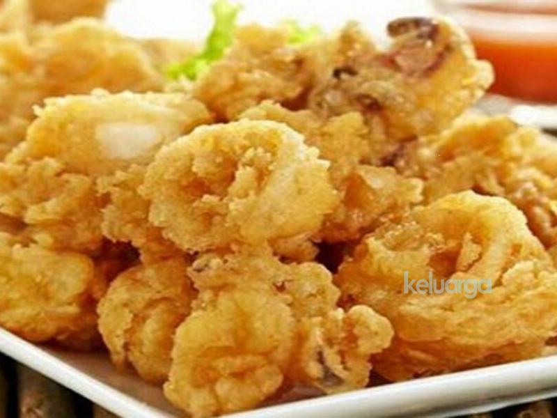 Azie Kitchen Sotong Celup Tepung Makanan Dapur Gandum