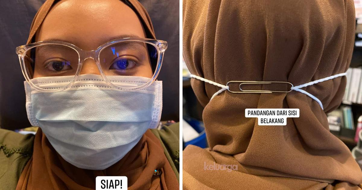 Begini Cara Pakai Ear Loop Mask Untuk Wanita Bertudung ...