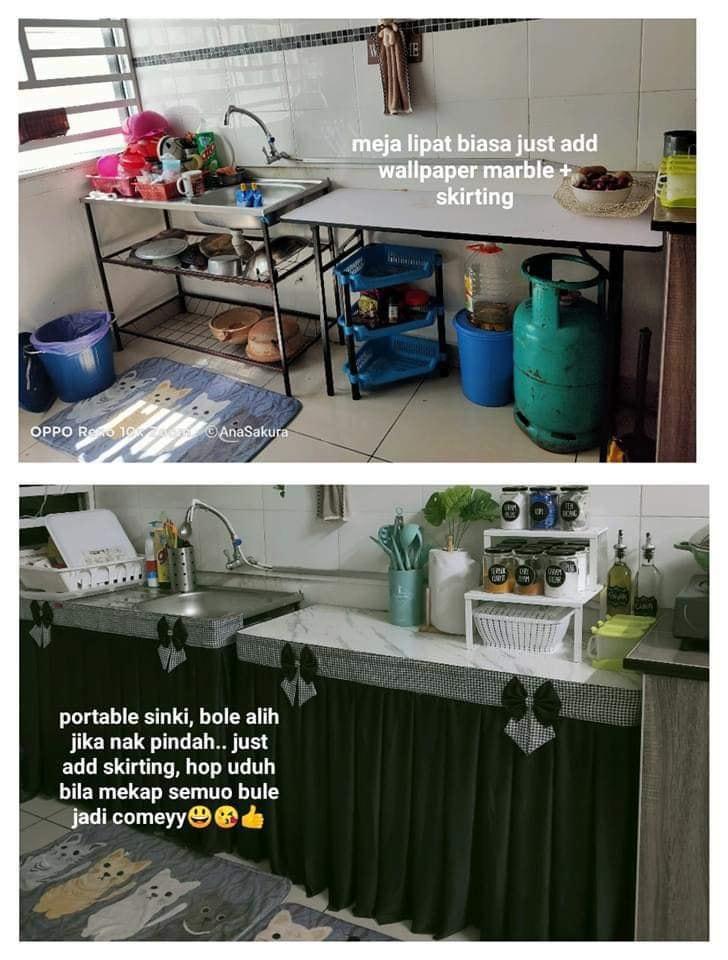 Tiada Dapur Kabinet Tetap Cantik Dan Kemas Ruang Memasak Superb Idea Wanita Ini Keluarga