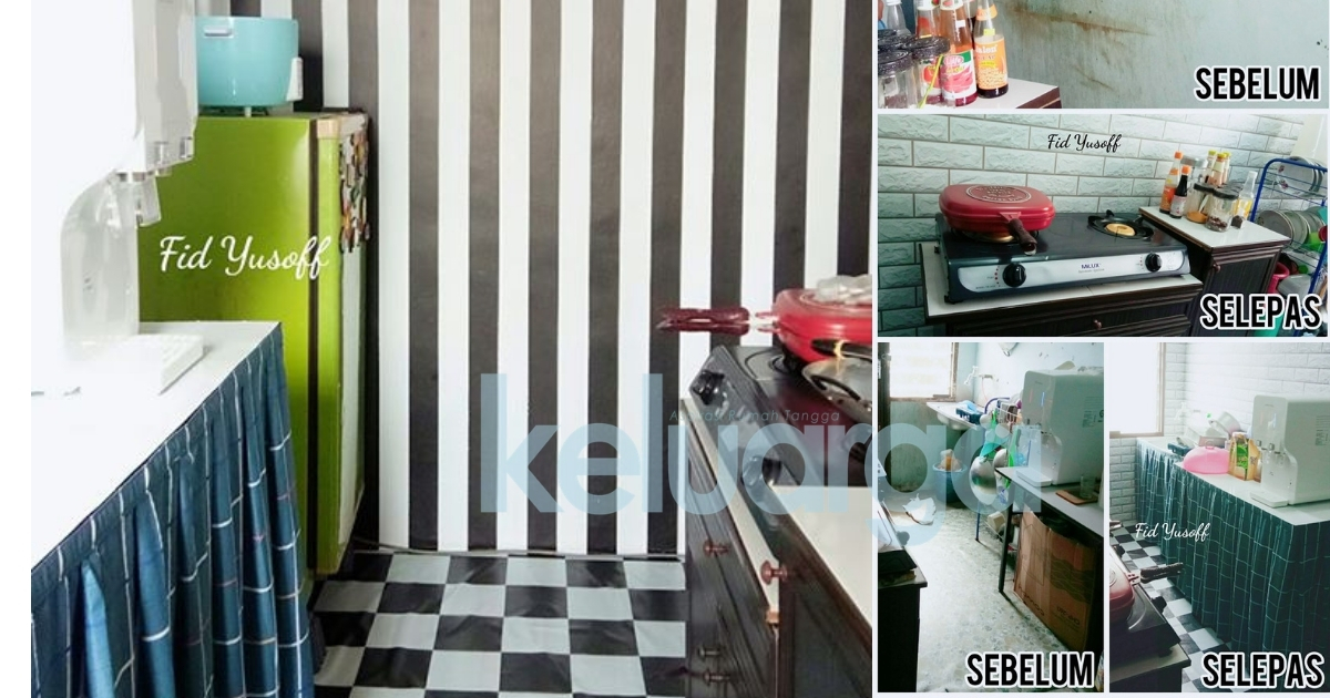 Cantik Dan Kemas Susun Atur Dapur Rumah Sewa Ni Guna Bajet Kurang Rm200 Aje Superb Keluarga