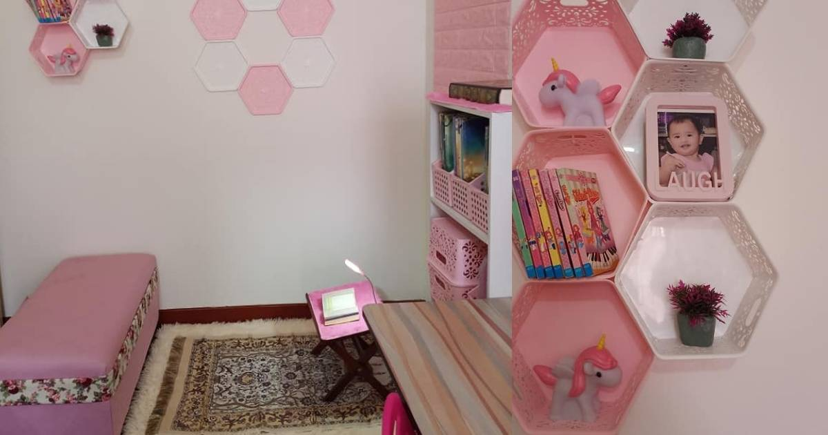 Hanya Guna Barang Kos Rendah Aje Tapi Dekorasi Ruang Solat Anak Perempuan Serba Pink Tetap Superb Inspirasi Keluarga