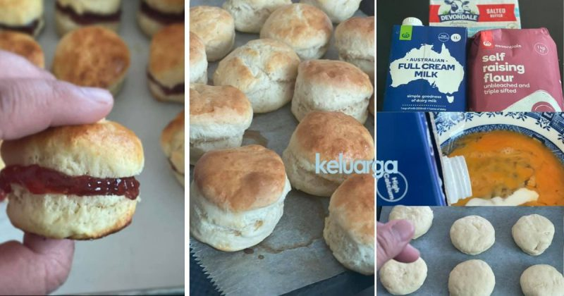 teringin nak makan scone wanita tinggal  luar negara  tunjukan  rupanya guna  bahan Resepi Roti Guna Baking Powder Enak dan Mudah
